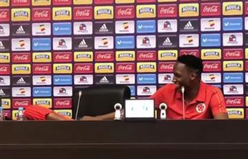 Cuadrado y Mina son solo risas en la rueda de prensa de la selección Colombia