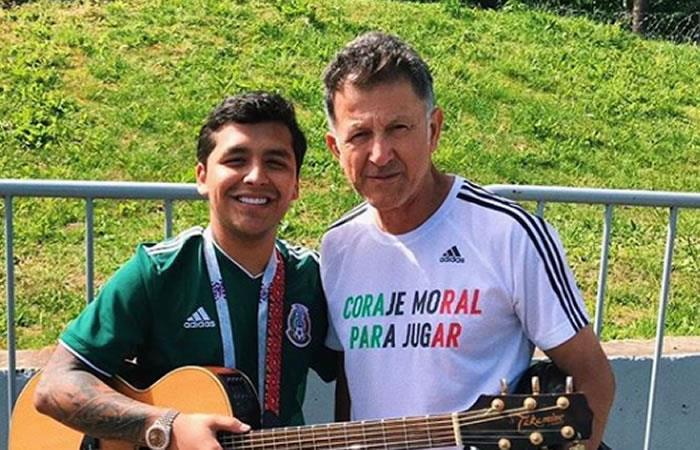 Christian Nodal y Juan Carlos Osorio compartieron un ameno momento. Foto: Instagram