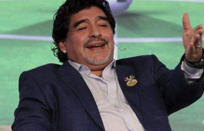 Maradona resaltó el desempeño de Falcao. Foto: AFP