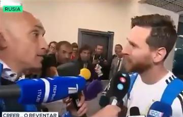 Lionel Messi y el increíble gesto de humildad que tuvo con un periodista