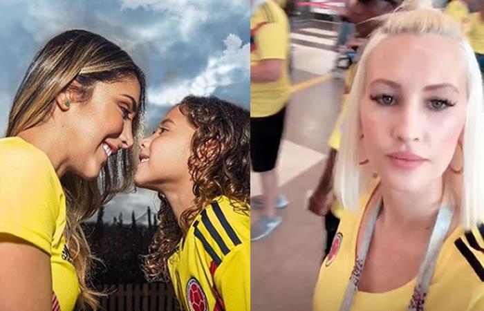 Daniel Ospina y Lorelei listas en el estadio para apoyar a Colombia contra Senegal.Fotos:InstagramsOficiales