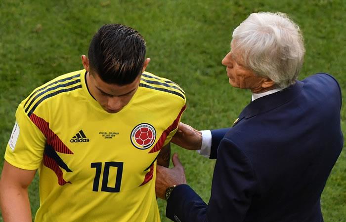 José Pékerman habla de James Rodríguez pero no da muy buenas noticias del colombiano. Foto: AFP