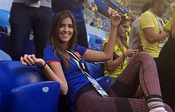 Paulina Vega se enfermó en Rusia y aún así fue a apoyar a Colombia