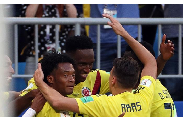 Colombia ya goza de su clasificación a octavos de final de Rusia 2018. Foto: EFE