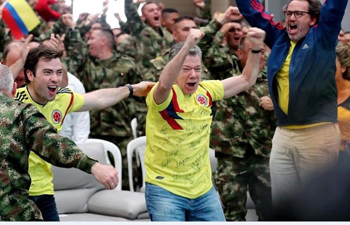 Selección Colombia: ¡Así celebró Santos la clasificación a octavos de final!