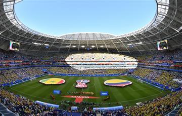 Selección Colombia: El himno nacional en Samara se cantó con más fuerza que nunca