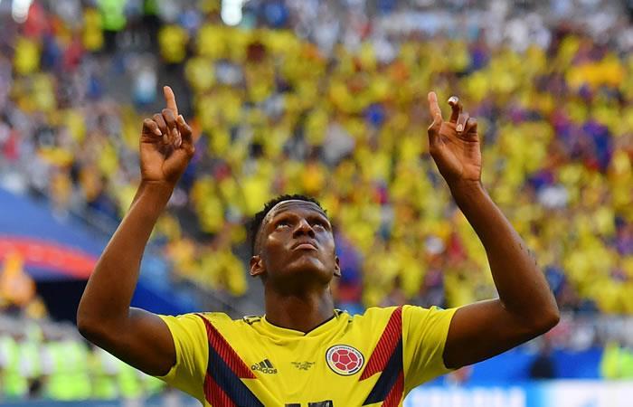 Yerry Mina anotó el gol de la victoria de Colombia sobre Senegal. Foto: AFP