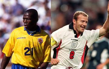 'Tino' Asprilla y Alan Shearer apuestan en el partido de Colombia Inglaterra