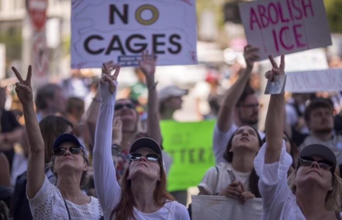 Miles de protestantes se congregaron en diversas ciudades de EE.UU. Foto: AFP.