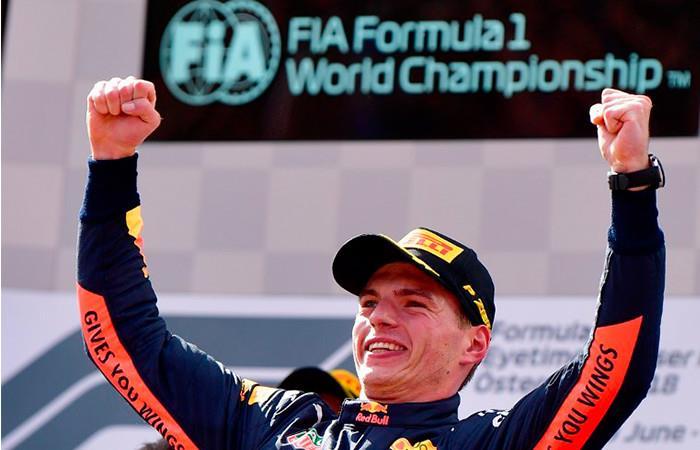 El holandés Max Verstappen (Red Bull) venció este domingo en Spielberg el Gran Premio de Austria de Fórmula 1. Foto: AFP