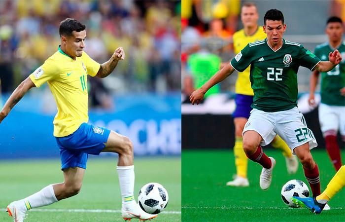 Brasil vs. México. Foto: AFP