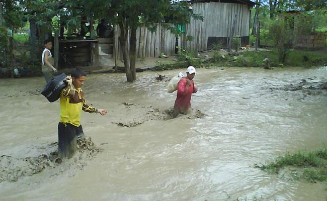 Luvias en Arauca dejan más de 1.300 familias damnificadas