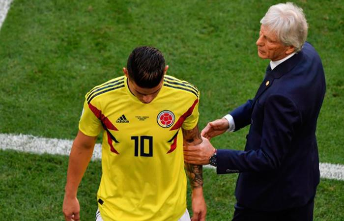 James Rodróguez y Pékerman. Foto: AFP