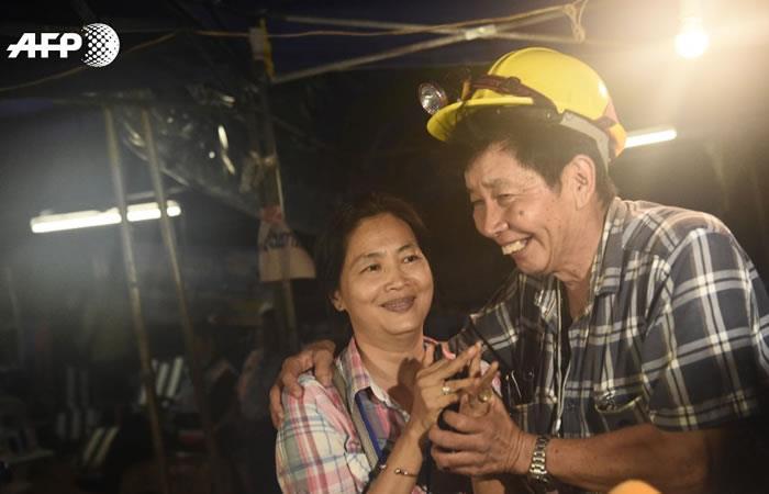 Foto: AFP Los niños y el entrenador fueron hallados con vida.