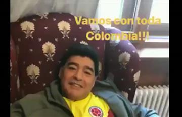 ¡Diego Maradona con la 'tricolor' puesta!