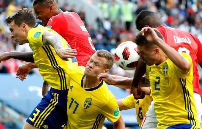 Suecia le ganó a Suiza y sería el próximo rival de la selección Colombia
