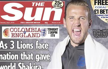 The Sun publica ofensiva portada de cara al partido Colombia-Inglaterra