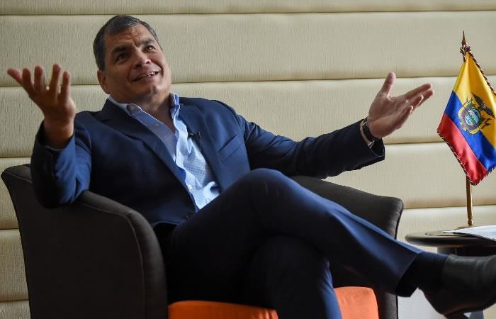 Correa no se presentó en Ecuador este 2 de julio. Foto: AFP
