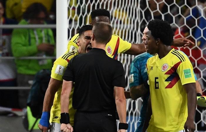Falcao estalla contra el árbitro: