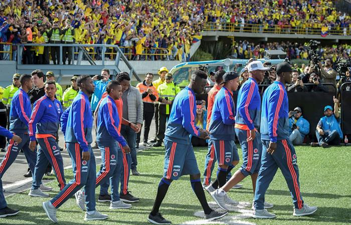 Así fue el recibimiento de la selección Colombia en Bogotá luego de su participación en el Mundial de Rusia 2018. Foto: AFP