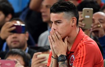 James Rodríguez inició tratamiento para determinar la gravedad de su lesión