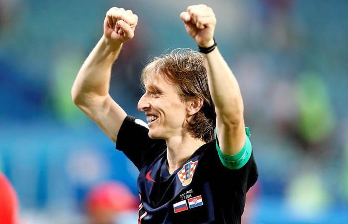 Luka Modric celebra la clasificación. Foto: EFE