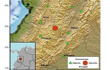 Sismo de 4.5 sacude al Cauca