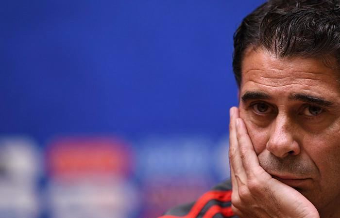 Fernando Hierro deja de ser director técnico de España. Foto: AFP