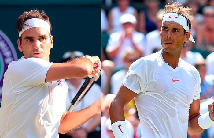 Roger Federer y Rafael Nadal. Foto: AFP
