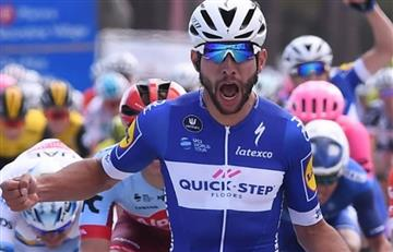 Fernando Gaviria el mejor de la etapa 4 y Rigoberto Urán en el top 10 de la general