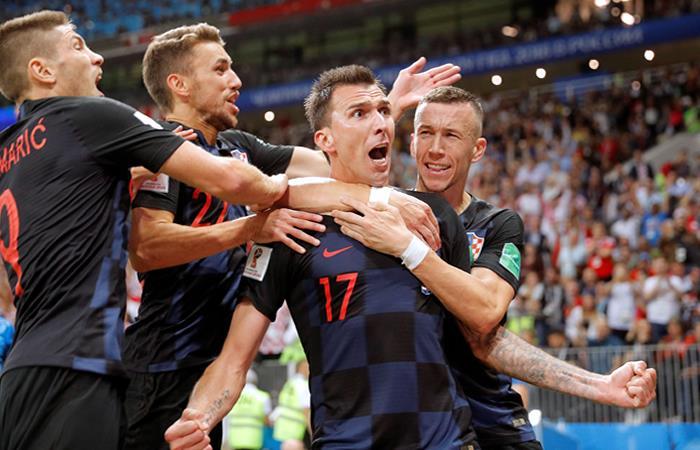 Croacia se clasifica a la gran final del Mundial de Rusia 2018. Foto: EFE