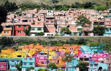 Programa de transformación le aportacolorido a los barrios en Bogotá