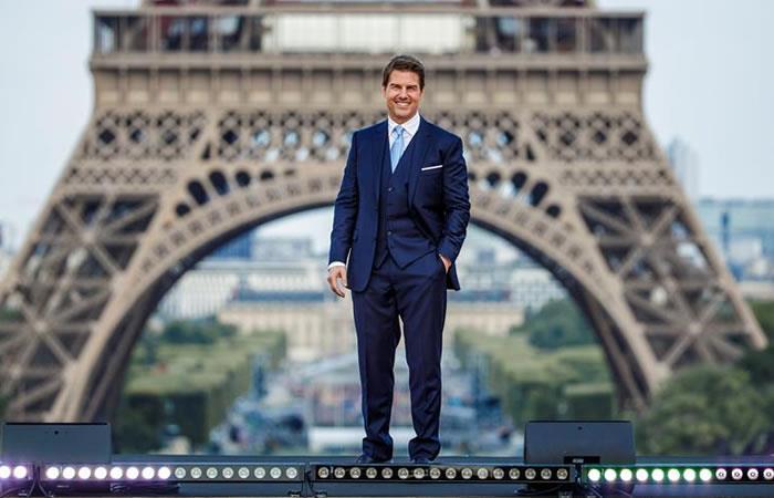 Foto: EFE Así fue el lanzamiento en la Torre Eiffel.