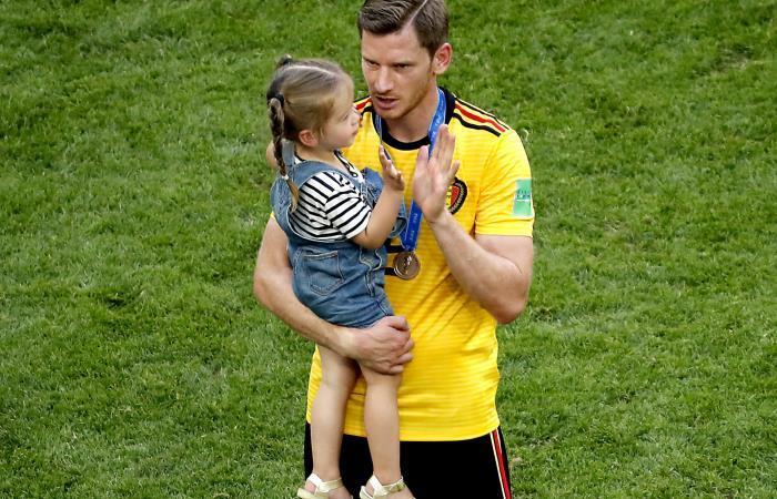 Bélgica celebra el tercer lugar en el Mundial. Foto: EFE