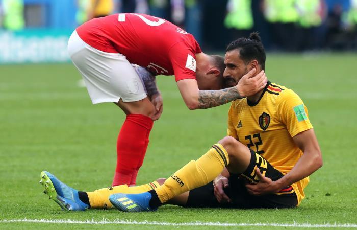 Bélgica celebra el tercer lugar en el Mundial. Foto: EFE.