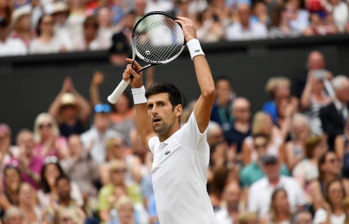 Novak Djokovic está en la final de Wimbledon