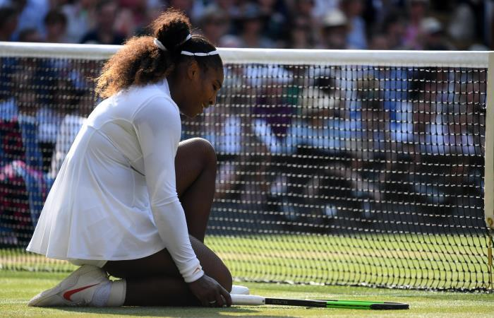 Serena Williams fue vencida por Angelique Kerber en la final de Wimbledon. Foto: EFE.