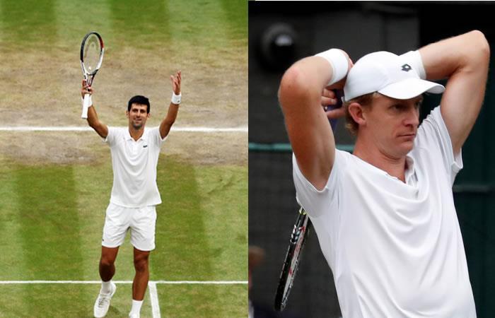 Djokovic y Anderson por la final de Wimbledon. Foto: EFE