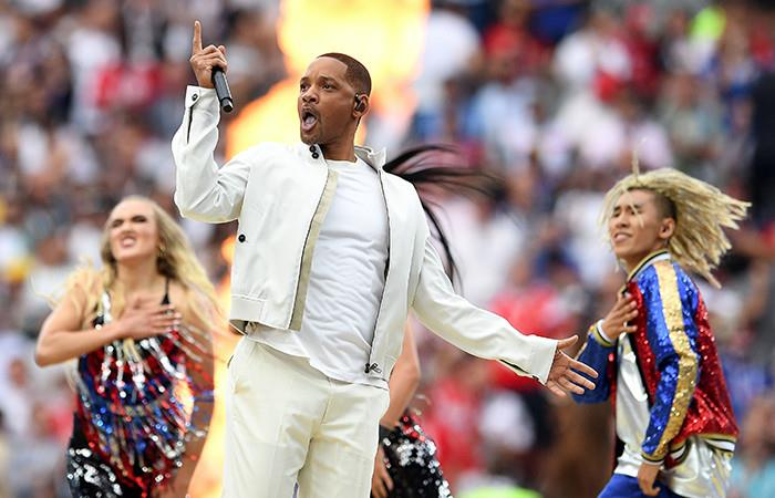 Will Smith cantó la canción del Mundial. Foto: EFE
