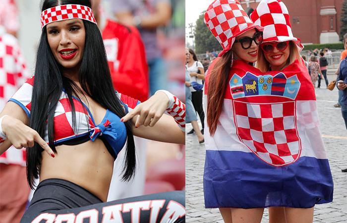 La hinchas de Croacia. Foto: EFE