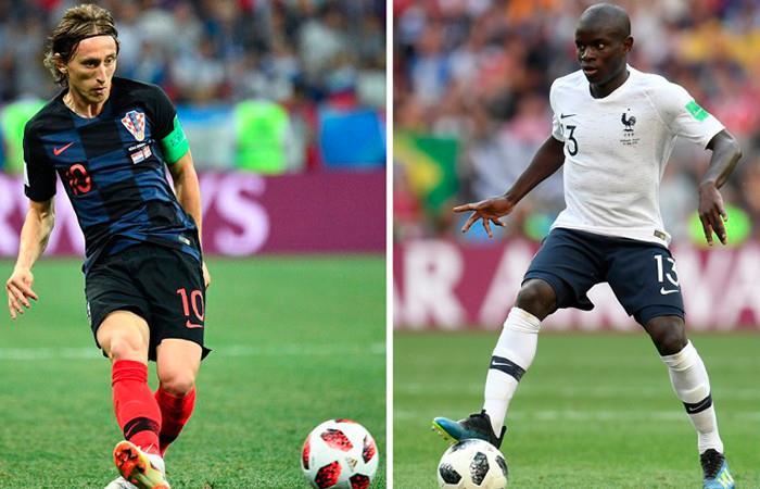Francia vs. Croacia por la gran final Foto: AFP