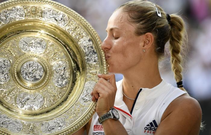 Angelique Kerber, campeona de Wimbledon tras vencer a Serena Williams. Foto: EFE.