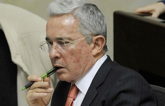 Expresidente y senador Álvaro Uribe Vélez. Foto: AFP