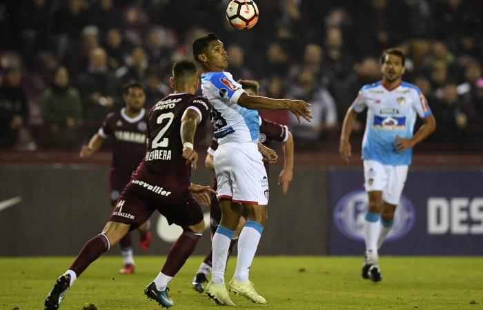 Junior de Barranquilla en su partido ante Lanús. Foto: AFP