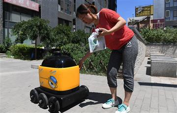 El robot repartidor llega a China