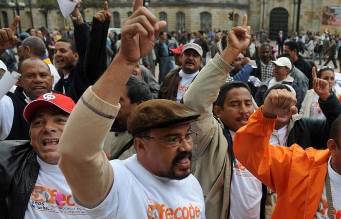 Fecode convocan para el 25 de julio un paro nacional