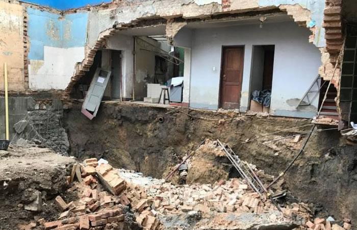 Bogotá: Muro colapsa en el centro de la ciudad tras el sismo