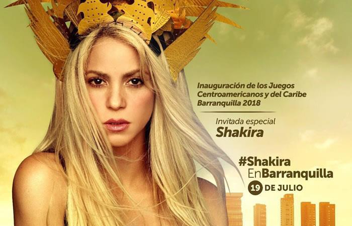 Shakira en Barranquilla, lista para el concierto de inauguración