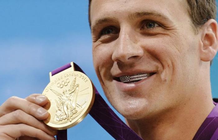 Ryan Lochte, seis veces ganador del oro olímpico. Foto: AFP
