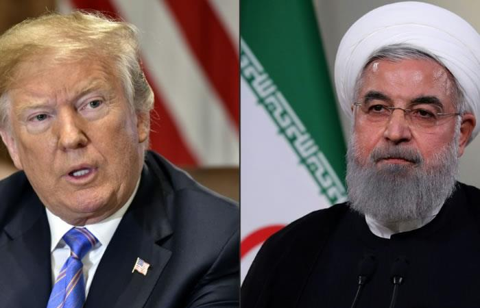 El presidente estadounidense, Donald Trump (D), y su homólogo iraní Hasan Rohani (I), quienes han intercambiado amenazas recíprocas. Fotos. AFP.